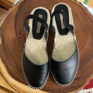 Zara black espadrilles size 8